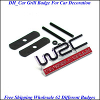 Wholesale 60sets Mix Order Grill Badge With Car Badge Racing ALPINA BRABUS Sports Drop Shipping Via DHL
