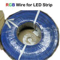 al por mayor cables de módulo led-200M / Lot UL1007 22AWG Cable de extensión 4PIN RGB Cable para conectar 5050 RGB LED Luz de tira LED Módulo RGB Amplificador