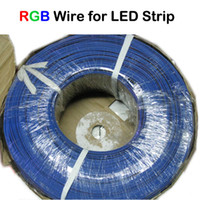Wholesale 200M UL1007 AWG Extension Cord PIN RGB Cable Wire to connect RGB LED Strip Light LED Module RGB Amplifier