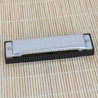 Wholesale 10 Holes Key Of C Harmonica For Swan Silver Ship From USA