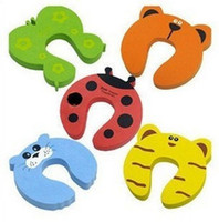 Safety Gates baby card designs - New Baby Safety Finger Pinch Guard Door Stopper Baby Safety Products Gate Card Animal Model Design