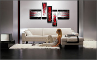 art painting - Art Modern Abstract Oil Painting Handpainted Cool Painting Pentaptych Multiple Piece Canvas Art Sets