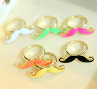 Wholesale 36pcs Handlebar Moustache Singer Finger Ring Colorful Afanty Moustache Rings