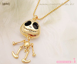 Wholesale 24pcs Cute Personality Punk Skull Long Necklace UFO Alien Hobberdy Sku