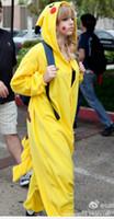 achat en gros de pyjamas jaunes femmes-Rompers pour femmes Adulte animal Cartoon jumpsuit long-sleeved jaune Siamese pyjamas Livraison gratuite