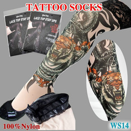 Wholesale Women s tattoo stockings Socks Tattoo sleeve socks for women Art hotsale fashion socks stockings