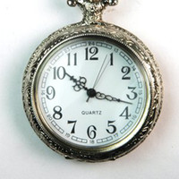 Wholesale Antique Style Silver Tone Case Mens Lady Pocket Watch