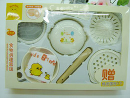 Wholesale Group of baby food supplement grinding food processor to grind the bowl to send bibs