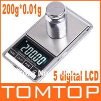 Wholesale 200gx0 g g g g g Mini Digital Jewelry Pocket Scale freeshipping dropshipping