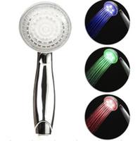 Wholesale LED Temperature Control Color Lights Shower Head bath room faucet H4734