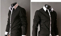 Wholesale Men s Slim Luxury Stylish Casual Shirts Grey Light blue Pink Black white amp Reta