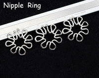 Wholesale Non_piercing Body Jewelry Nipple Rings L Stainless steel NPBJ07
