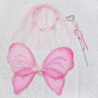 Wholesale Princess Set Butterfly Wing Tiara Want set Party Accessories Fairy Set Dancing Wear