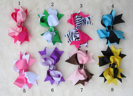 Wholesale 8 Colors inch bow knot Children s Hair Accessories baby Girls Flower Clip