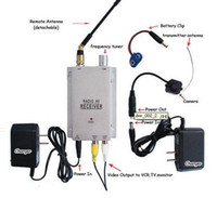 Wholesale Wireless Mini pinhole micro CCTV security surveillance A V audio IR LED RC Camera receiver kit pc S367