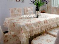 Wholesale rectangle table clothes table clothes piece chair cover piece chair cushion total are piece