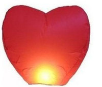 Wholesale Mulan S Red Heart Chinese Fire Sky Lanterns Wishing Balloon Birthday Christmas Wedding Party L