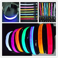 Wholesale Nylon LED Dog Pet Flashing Light Up Safety Collar color size V3201