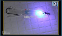 Wholesale 3pcs Game Fishing LED Underwater Light squid Lure Light Hook Swivel DIY Free ship