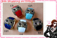 Wholesale 2012 Fashion bracelet punk style Drops of oil owl The owl Bracelet Candy colors C colours