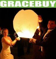 Sky Lantern Holiday  Kongmingdeng Chinese Fay Balloon Wishing Lamp Paper Sky Candle Xmas Wedding Flying Party Lanterns