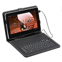 Wholesale USB keyboard leather case for inch Android Tablet pc epad apad flytouch