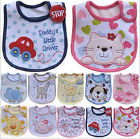 Wholesale Cotton Baby Bibs layers waterproof bib Feeding Cartoon infant disposable baby bib