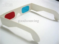 Wholesale Red Cyan paper D glasses for D movie D game D TV