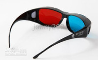 Wholesale Red blue D Vision Glasses with Full Black Frame for D movie D game
