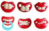 Wholesale Funny Silicone baby Pacifiers JOYFUL Baby two Front Teeth Pacifier Gifts