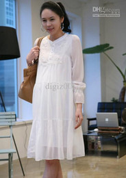 Wholesale Fashion Stylish Chiffon Maternity Pregnant Women Dress Mother Lace Skirt APPA0245