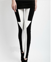 Women Skinny,Slim Other 2012 Fashion Woman Leggings Tights Legwear Pants Black White