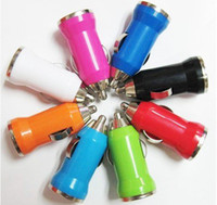 Wholesale 100pcs MA New Mini Universal USB Car Charger Adapter for PDA Cell Phone Mp3 MP4 lk
