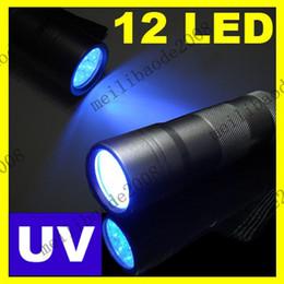 Wholesale 6pcs I75 Aluminum Housing LED UV Ultra Violet Mini Lamp Torch Flashlight Flash Light