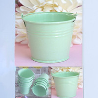 tin pail - 100pcs Light Green Tin Pails wedding favors mini pails tin candy tins favor boxes tins