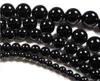 Wholesale 6 MM Natural round black onyx agate loose beads fashion jewelry beads