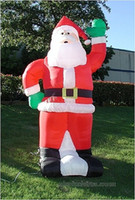 Wholesale Fast custom new Inflatable Christmas Santa Claus by express
