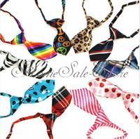 Wholesale 100 Fashion Polyester Silk Pet Dog Necktie Adjustable Handsome Bow Tie Necktie Grooming Supplies