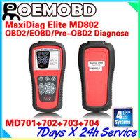 Engine Analyzer For BMW Autel AUTEL MD-802 scanner 4 system + DS MD802 PRO (MD701+MD702+MD703+MD704) auto code reader car diagnostic tool md 802
