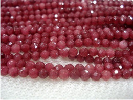 4mm Brazil Faceted Red Ruby Round Loose Beads Gemstone 15''