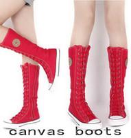 Wholesale fashion canvas shoes women sneaker women s sports canvas boots
