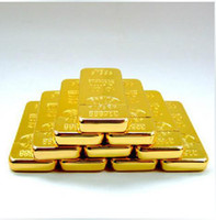 Wholesale ultra thin fine gold brick lighter