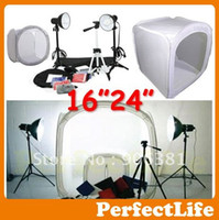 Wholesale New Photo Studio Light Tent Kit in quot quot Shooting Tent Box light stands Tripod Hot sale