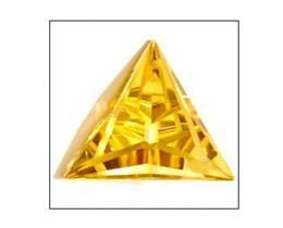 Wholesale Triangle yellow gemstone gemstone jewelry fashion ladies gemstones hotsale