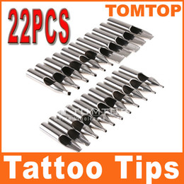 Wholesale 22Pcs set High Quality Stainless Steel Tattoo Tips amp Gift Box H8427