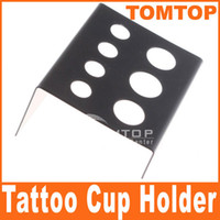 Wholesale Tattoo Supplies Top Palette Black Stainless Steel Tattoo Ink Cup Holder Stand H8524