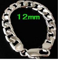 Wholesale hot sale MM inch Men s Silver curb chain bracelet