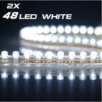 Wholesale 2 x cm White LED Flexible Car Neon Strip Light V led strip light