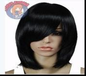 Shipping in 24 Hours New Stylish Capless Side Bang Black 1B color Long Straight Synthetic Hair Lady Women's Fashion Wig Wigs