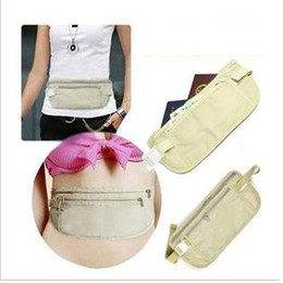 Free shipping 20pcs lot free shipping Security Travel Ticket Waist Purse Pouch Money Coin Cards Passport Belt Bag